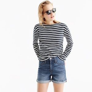 NWT J. Crew high rise denim shorts